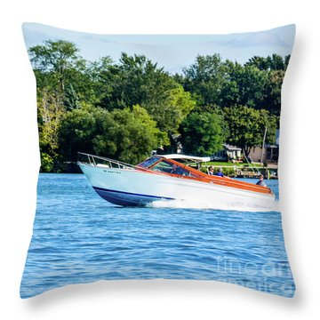 Yes Its A Chris Craft Throw Pillow