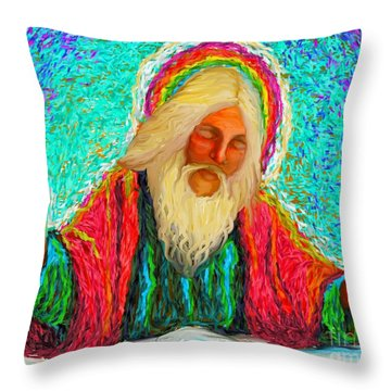 Yhwh Over Us Throw Pillow