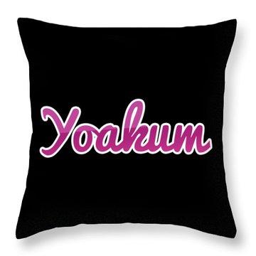 Yoakum #yoakum Throw Pillow