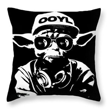 Yoda Parody - Only Once You Live Throw Pillow