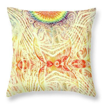 Yonic Rainbow Throw Pillow