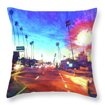 York At Figueroa, Highland Park Throw Pillow