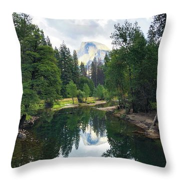 Yosemite Classical View Throw Pillow