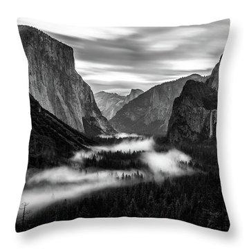 Yosemite Fog 1 Throw Pillow