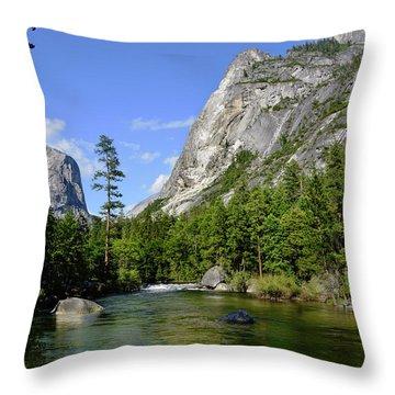 Yosemite Mirror Lake, Lower Pool Throw Pillow