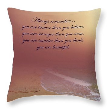 Throw Pillow featuring the photograph You Are More Than You Know by Johanna Hurmerinta