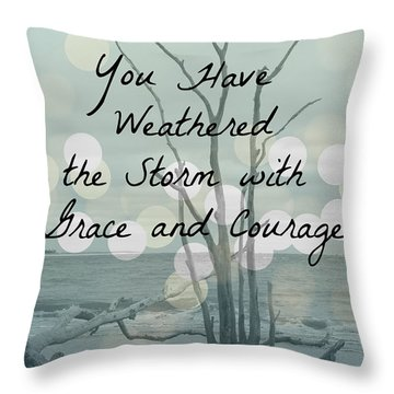 You Have Weathered The Storm Throw Pillow