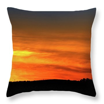 Vertical Roller Coaster At Sunset Throw Pillow