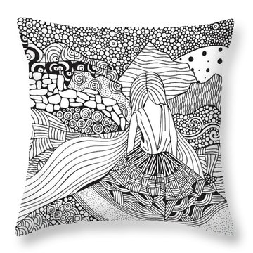 African American Woman Throw Pillows