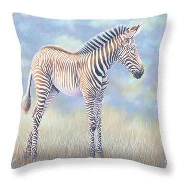 Young Grevy Zebra Throw Pillow
