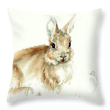 Young Rabbit Throw Pillow
