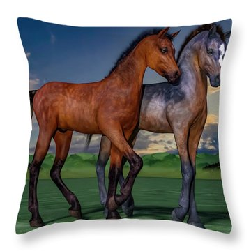 Young Spirits Throw Pillow