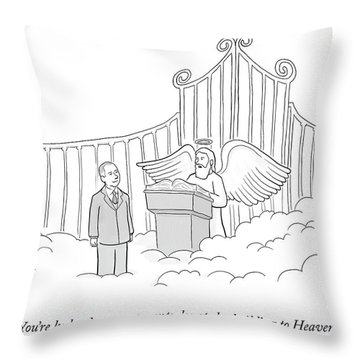 Your Parents Donated Throw Pillow