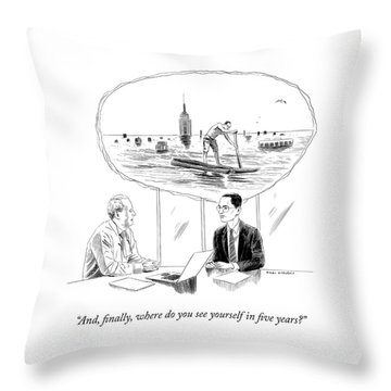 Yourself In Five Years Throw Pillow