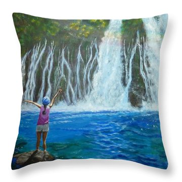 Throw Pillow featuring the painting Youthful Spirit by Amelie Simmons