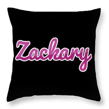 Zackary #zackary Throw Pillow