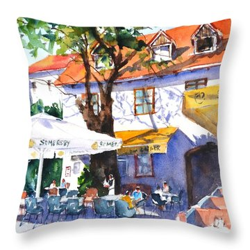 Zagreb Cafe #3 Throw Pillow