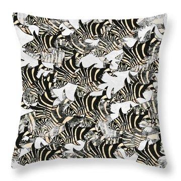 Zebra Fish 10 Throw Pillow