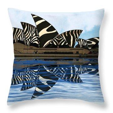 Zebra Opera House 4 Throw Pillow