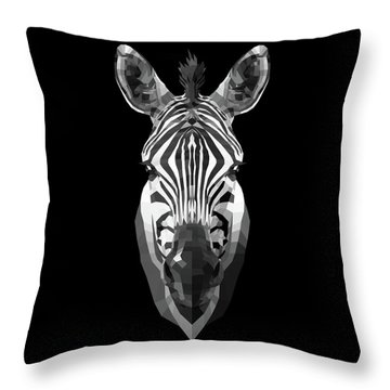 Zebra's Face Throw Pillow