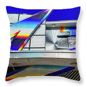 Throw Pillow featuring the photograph Zed by Skip Hunt