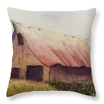 Zeke's Barn Throw Pillow