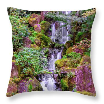 Throw Pillow featuring the photograph Zen Garden by Dheeraj Mutha