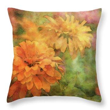 Zinnias 3063 Idp_2 Throw Pillow
