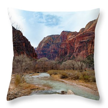 Zion Canyon Throw Pillow