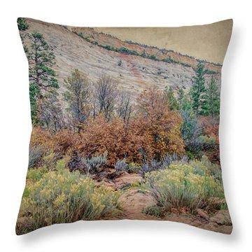 Zions Garden Throw Pillow