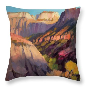 Zion's West Canyon Throw Pillow