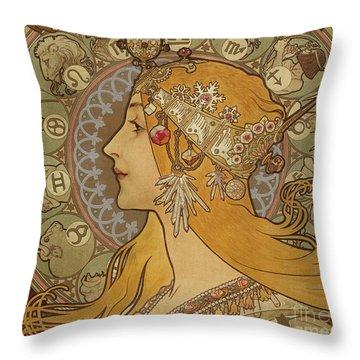 Zodiac, 1896  Throw Pillow