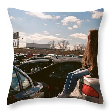 Throw Pillow featuring the photograph Zoom Zoom by Carl Young