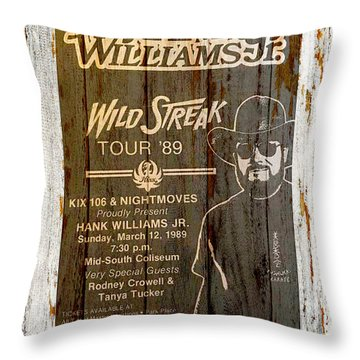 Hank Williams Jr Throw Pillows Fine Art America