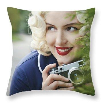 Paparazzi Throw Pillows Fine Art America