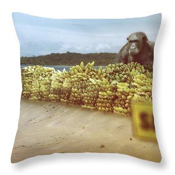 A Monkey's Business - Throw Pillow Product by Matthias Zegveld