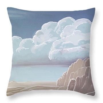 Desert Mountains - Throw Pillow Product by Matthias Zegveld