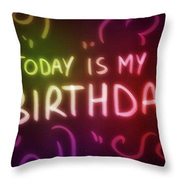 Today Is My Birthday - Throw Pillow Product by Matthias Zegveld