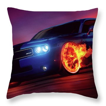Wheels on Fire - Throw Pillow Product by Matthias Zegveld