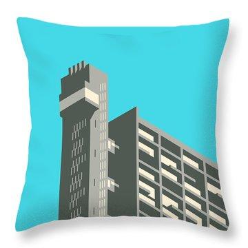 Brutalist Architecture Throw Pillows