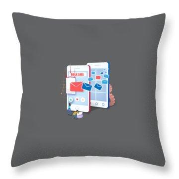 Bulk Sms Throw Pillows