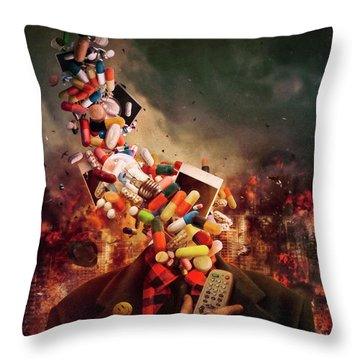 Brainwash Throw Pillows