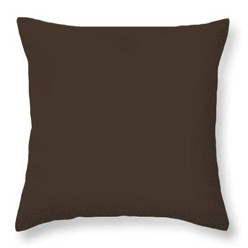 Dark Rum Throw Pillows