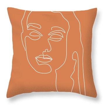 Portrait Of A Lady Throw Pillows Fine Art America