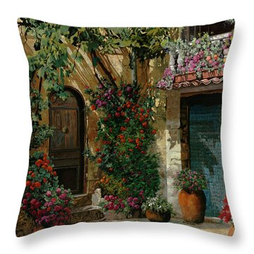 Courtyard Throw Pillows