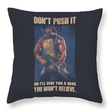 Rambo Throw Pillows Fine Art America