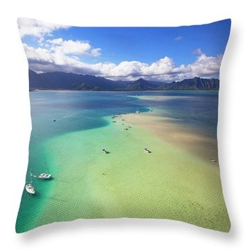 Kaneohe Bay Throw Pillows Pixels