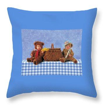 Picnic Basket Throw Pillows Fine Art America