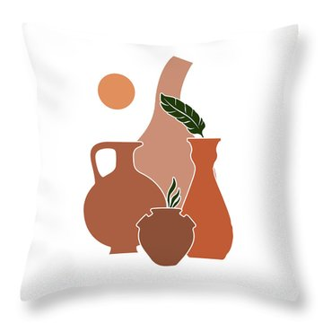 Greek Vase Throw Pillows Fine Art America