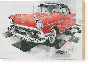 Vintage Chevrolet Wood Prints